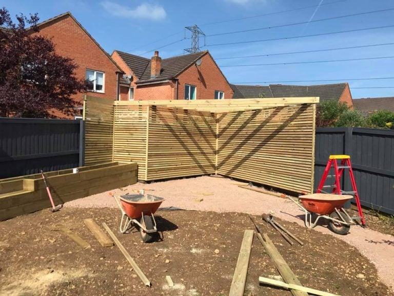 Garden timber construction, Turfing, Landscaping design, paving and walls, decking, block paving and driveway, planting, ponds and water features, gates and fences, garden sheds, patios and terraces in Calne, Devizes